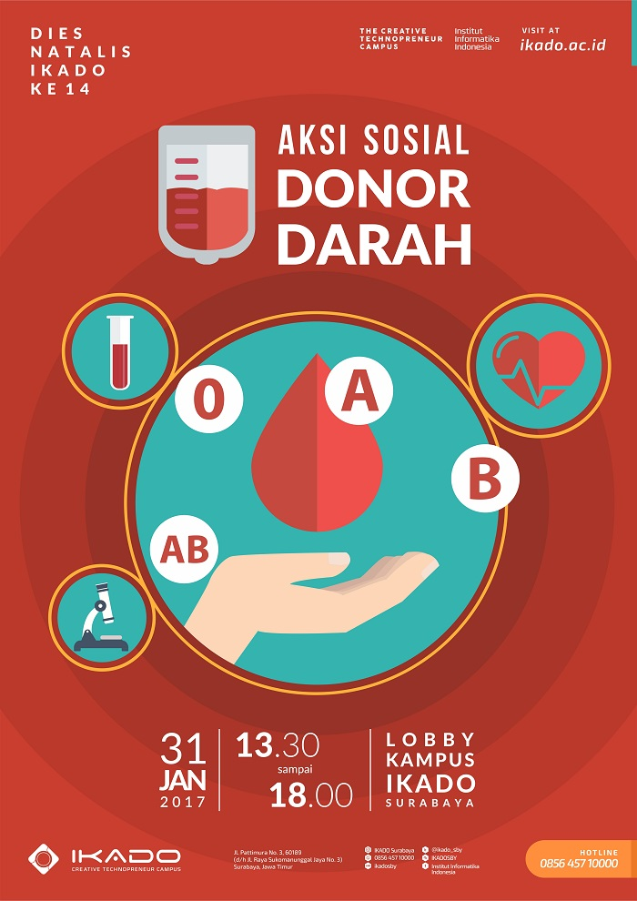 Institut Informatika Indonesia Ikado Aksi Sosial Donor Darah